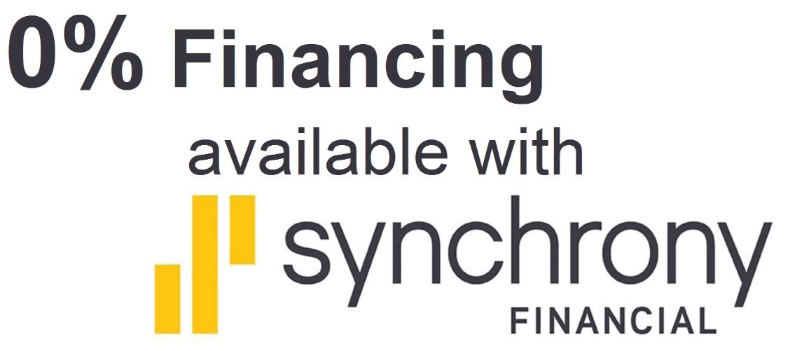 0% Financing avilable with Synchrony Financial